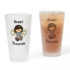 Happy Passover Girl Drinking Glass