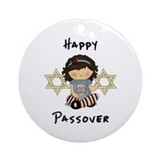 Happy Passover Girl Ornament (Round)