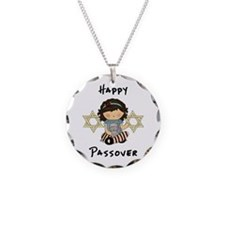 Happy Passover Girl Necklace