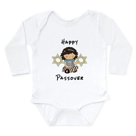 Happy Passover Girl Long Sleeve Infant Bodysuit
