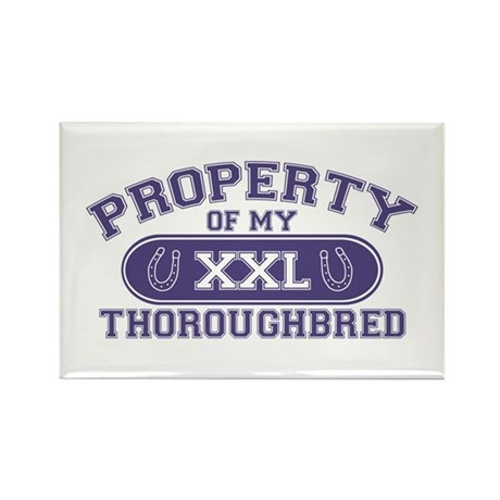 Thoroughbred PROPERTY Rectangle Magnet
