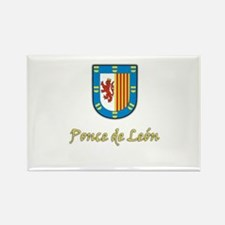 Ponce de Leon Coat-of-Arms Rectangle Magnet