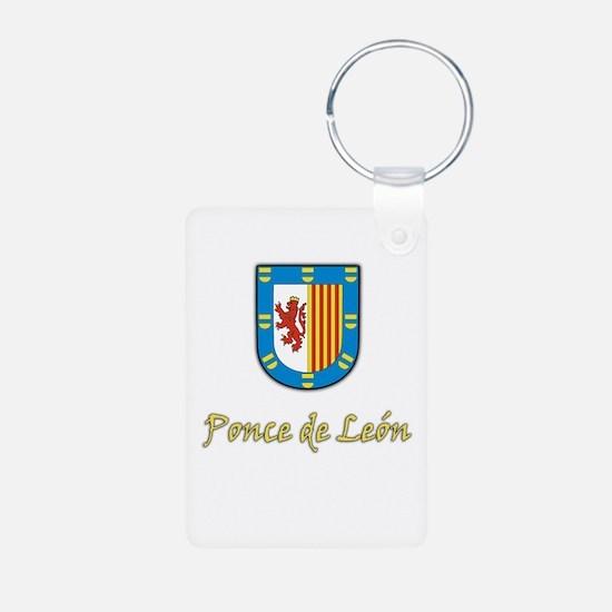 Ponce de Leon Coat-of-Arms Aluminum Photo Keychain