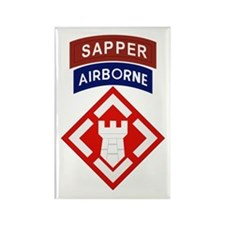20th Engineer Sapper Rectangle Magnet