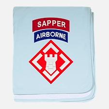 20th Engineer Sapper baby blanket