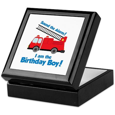 Firetruck Birthday Boy Keepsake Box