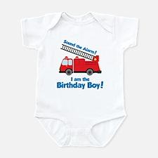 Firetruck Birthday Boy Infant Bodysuit