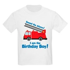 Firetruck Birthday Boy T-Shirt
