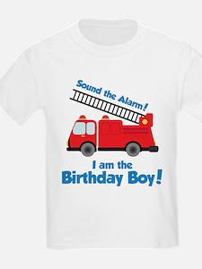 Firetruck Birthday Boy T-Shirt