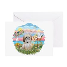 AngelStar-ShihTzu 17 Greeting Card