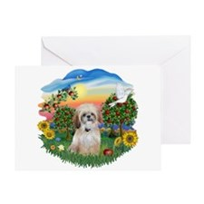 Bright Country-Shih Tzu 17 Greeting Card