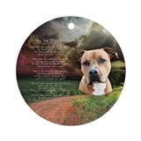 American pit bull terrier Round Ornaments
