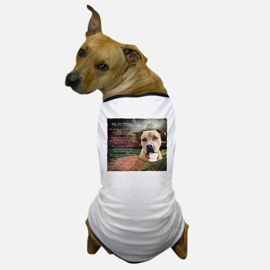 """Why God Made Dogs"" AmStaff Dog T-Shirt"