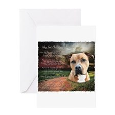 """""""Why God Made Dogs"""" AmStaff Greeting Card"""