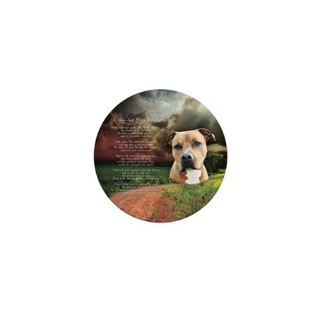 """""""Why God Made Dogs"""" AmStaff Mini Button"""