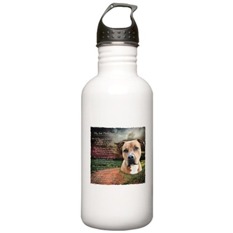 """Why God Made Dogs"" AmStaff Stainless Water Bottle"