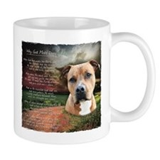 """Why God Made Dogs"" AmStaff Mug"