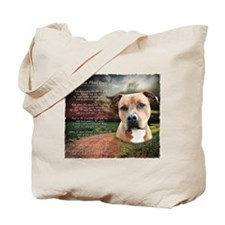 """Why God Made Dogs"" AmStaff Tote Bag"