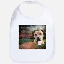 """Why God Made Dogs"" AmStaff Bib"