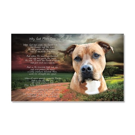 """""""Why God Made Dogs"""" AmStaff Car Magnet 20 x 12"""