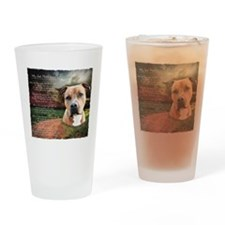 """Why God Made Dogs"" AmStaff Drinking Glass"