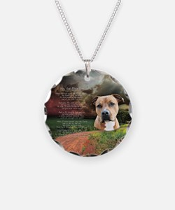 """Why God Made Dogs"" AmStaff Necklace"