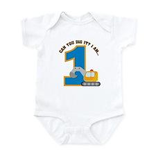 Construction Digger 1st Birth Infant Bodysuit