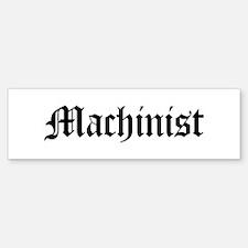 Machinist Bumper Car Car Sticker