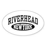 Riverhead NY Sticker (Oval)