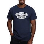 Shelter Island NY Men's Fitted T-Shirt (dark)