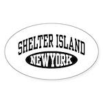 Shelter Island NY Sticker (Oval)