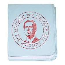 Vintage Santorum baby blanket