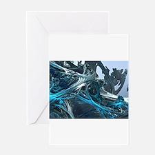 Cute Blue fractal Greeting Card