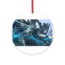 Unique 3d art Ornament (Round)