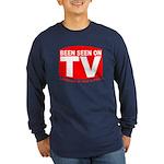 Been Seen on TV Porn Long Sleeve Dark T-Shirt