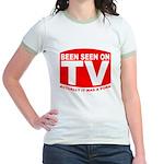 Been Seen on TV Porn Jr. Ringer T-Shirt