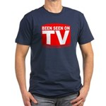 Been Seen on TV Porn Men's Fitted T-Shirt (dark)