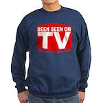 Been Seen on TV Porn Sweatshirt (dark)