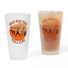 Multiple Sclerosis Walk Run Drinking Glass
