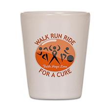 Multiple Sclerosis Walk Run Shot Glass