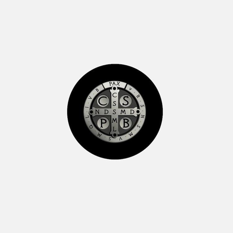 Benedict Medal Mini Button