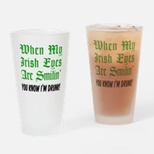 Irish Eyes Smiling Drinking Glass
