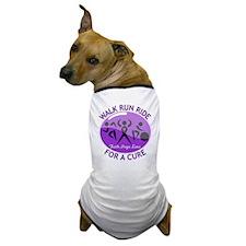 Alzheimers Disease Walk Run Ride Dog T-Shirt