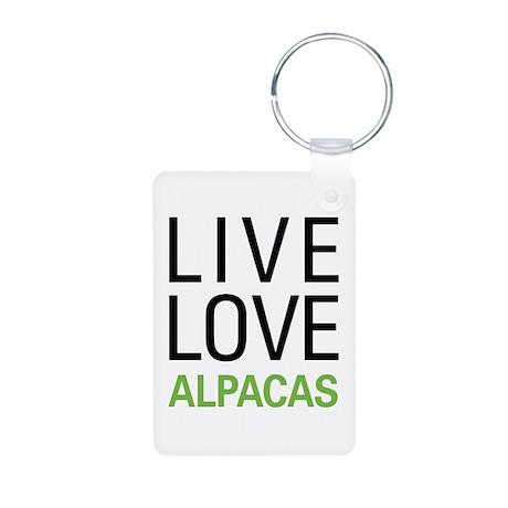 Live Love Alpacas Aluminum Photo Keychain