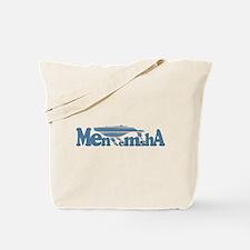 Menemsha MA - Whale Design. Tote Bag