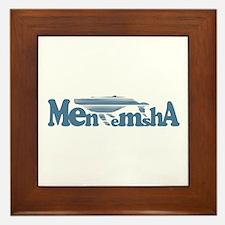 Menemsha MA - Whale Design. Framed Tile