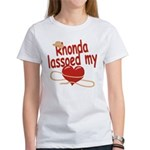 Rhonda Lassoed My Heart Women's T-Shirt