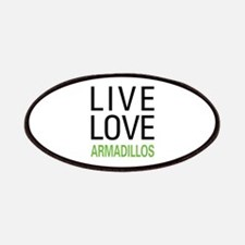 Live Love Armadillos Patches