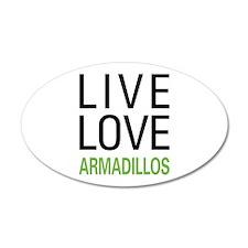 Live Love Armadillos Wall Decal