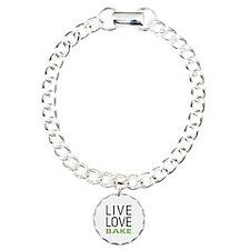 Live Love Bake Charm Bracelet, One Charm